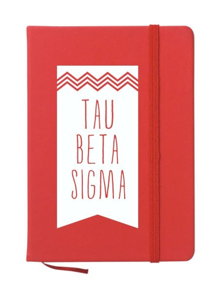Tau Beta Sigma Chevron Notebook