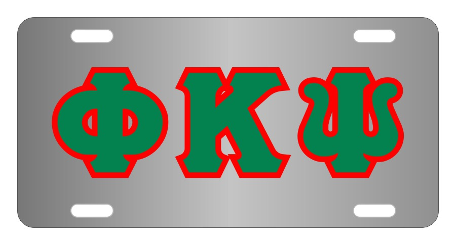Phi Kappa Psi Fraternity License Plate Cover