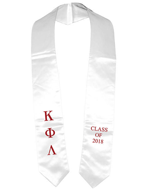 Kappa Phi Lambda Classic Colors Embroidered Grad Stole