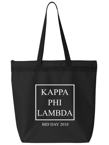 Kappa Phi Lambda Box Stacked Event Tote Bag