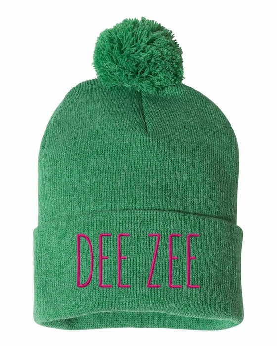 Delta Zeta Sorority Beanie With Pom Pom