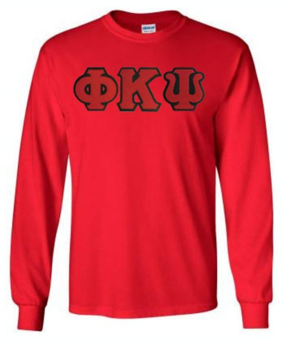 Phi Kappa Psi Long Sleeve Greek Lettered Tee