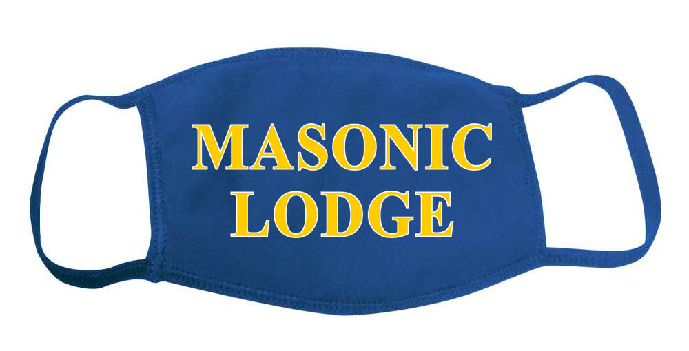 Masons Face Mask With Big Greek Letters