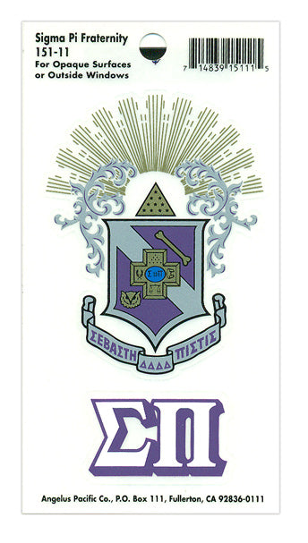 Sigma Pi Crest Decal