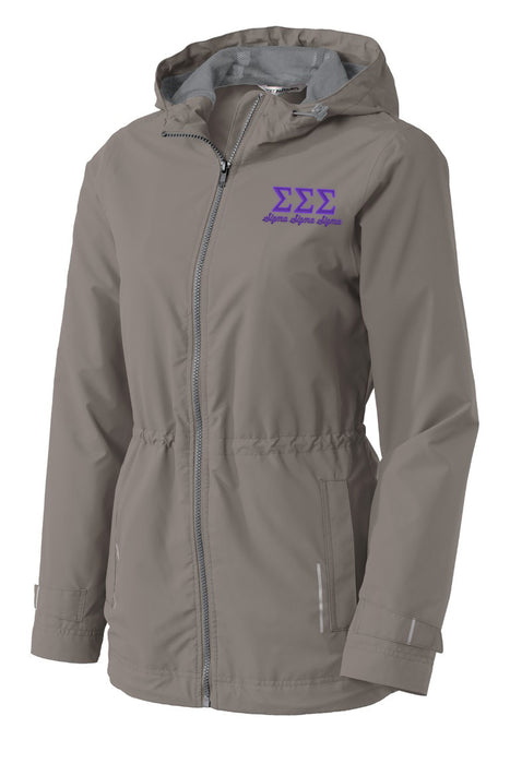 Sigma Sigma Sigma Embroidered Ladies Northwest Slicker