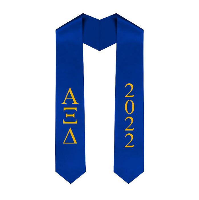 Alpha Xi Delta Vertical Grad Stole with Letters & Year