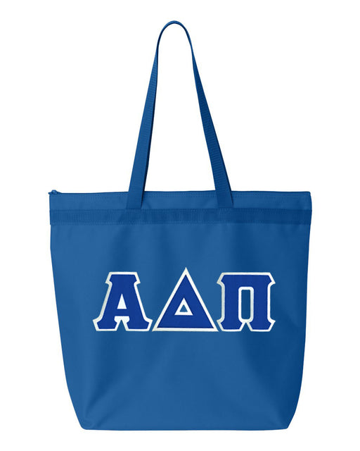 Alpha Delta Pi Greek Lettered Game Day Tote