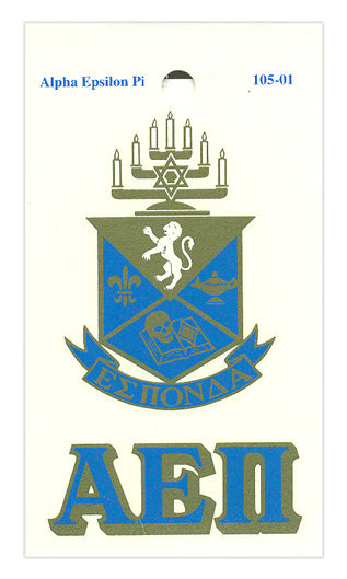 Alpha Epsilon Pi Crest Decal