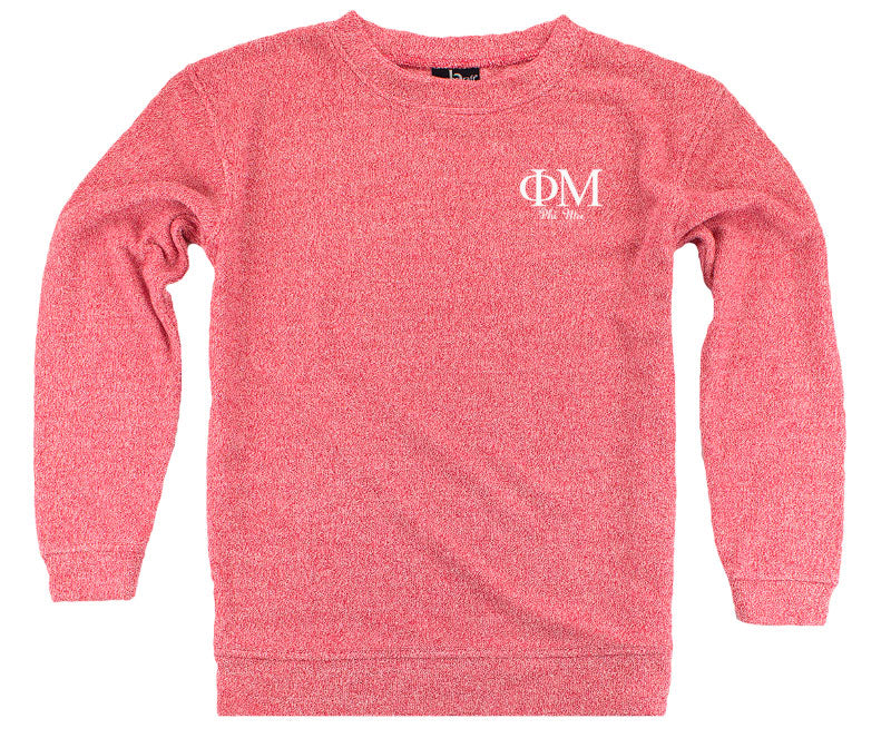 Phi Mu Lettered Cozy Sweater