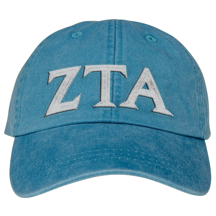 Zeta Tau Alpha Greek Letter Embroidered Hat