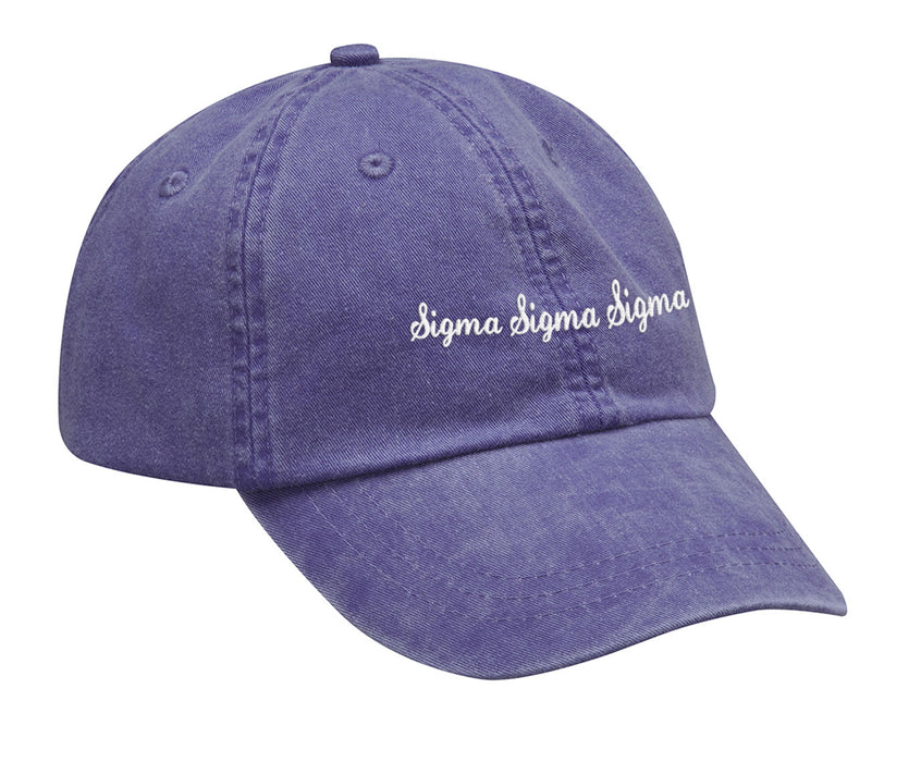Sigma Sigma Sigma Cursive Embroidered Hat