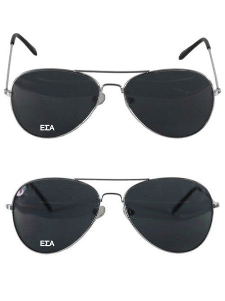 Epsilon Sigma Alpha Aviator Letter Sunglasses