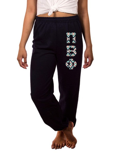 Pi Beta Phi Sweatpants with Sewn-On Letters