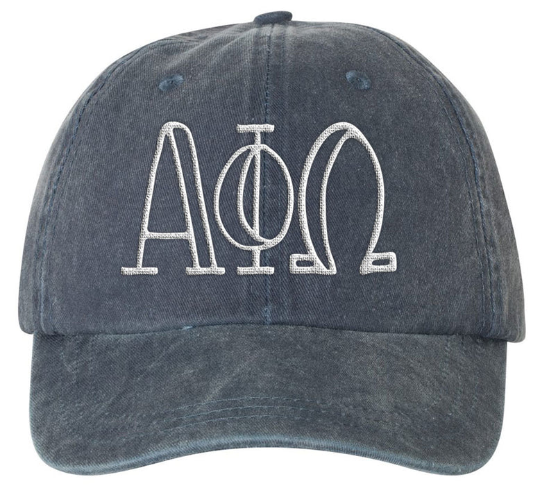 Alpha Phi Oemga Sorority Greek Carson Embroidered Hat