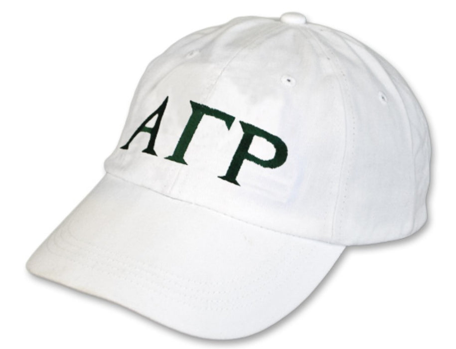 Alpha Gamma Rho Greek Letter Embroidered Hat