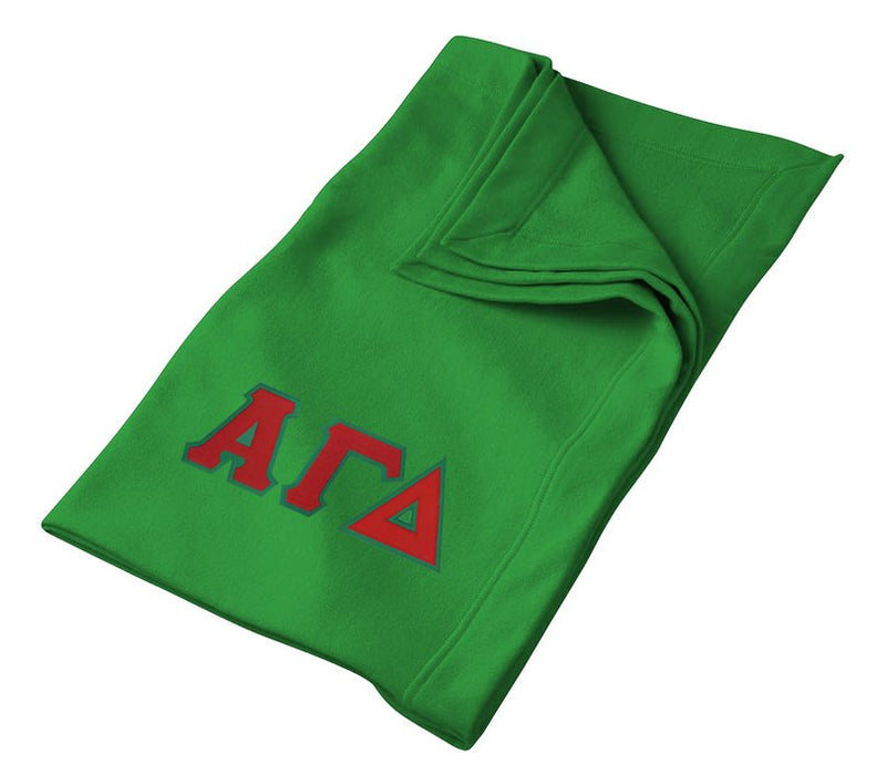 Alpha Gamma Delta Greek Twill Lettered Sweatshirt Blanket