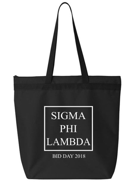 Sigma Phi Lambda Box Stacked Event Tote Bag