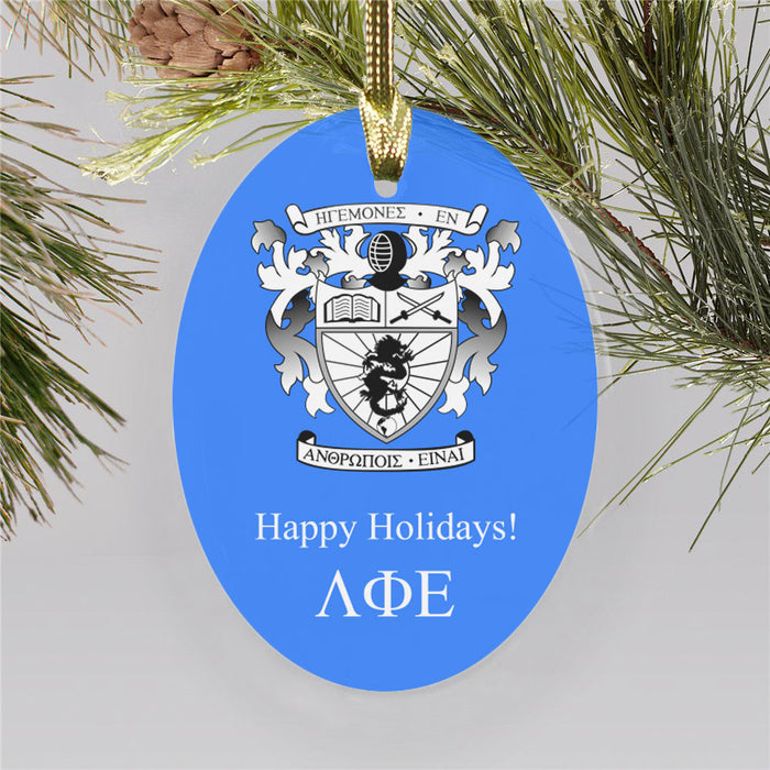 Lambda Phi Epsilon Color Crest Ornament