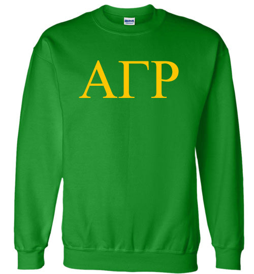 Alpha Gamma Rho World Famous Lettered Crewneck Sweatshirt