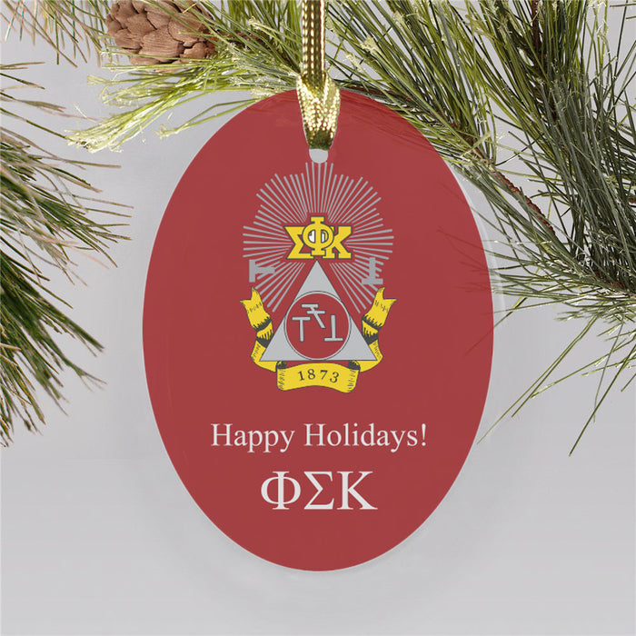 Phi Sigma Kappa Color Crest Ornament