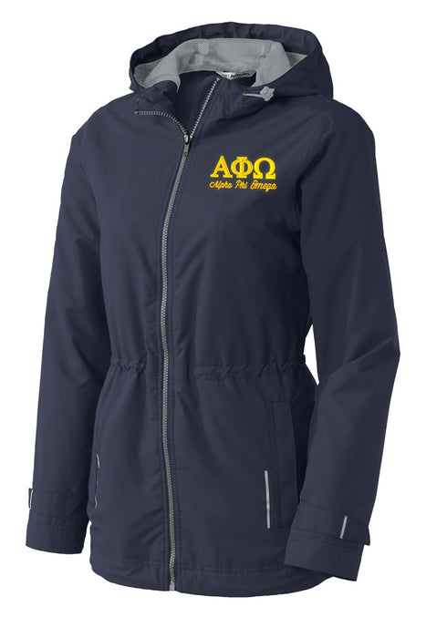 Alpha Phi Omega Embroidered Ladies Northwest Slicker