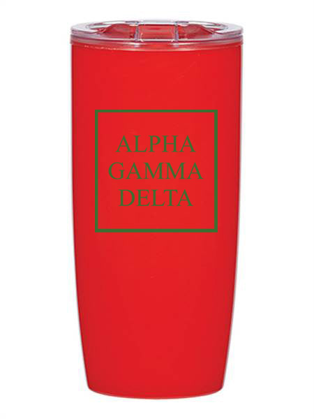 Alpha Gamma Delta Box Stacked 19 oz Everest Tumbler
