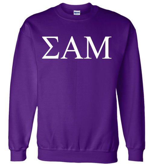 Sigma Alpha Mu World Famous Lettered Crewneck Sweatshirt
