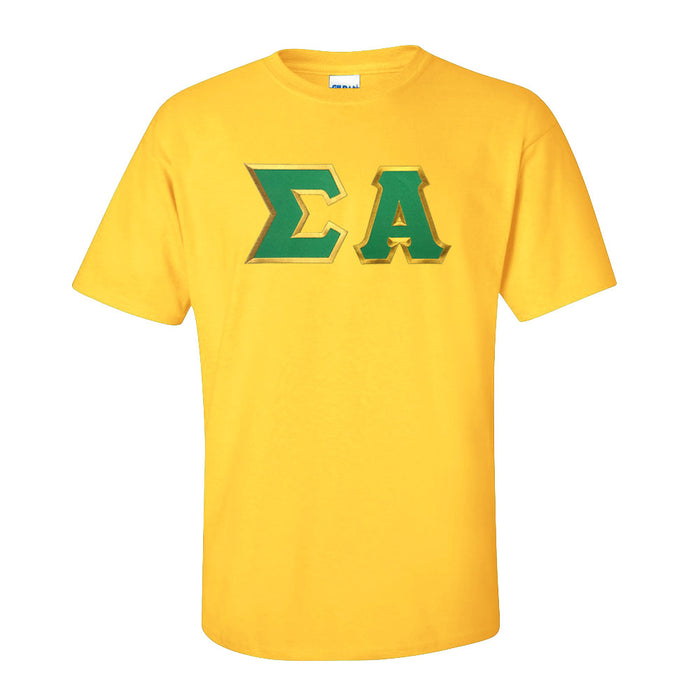 Sigma Alpha Lettered T Shirt
