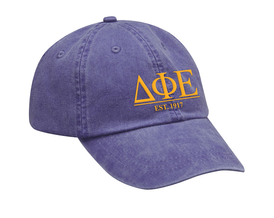 Delta Phi Epsilon Letters Year Embroidered Hat