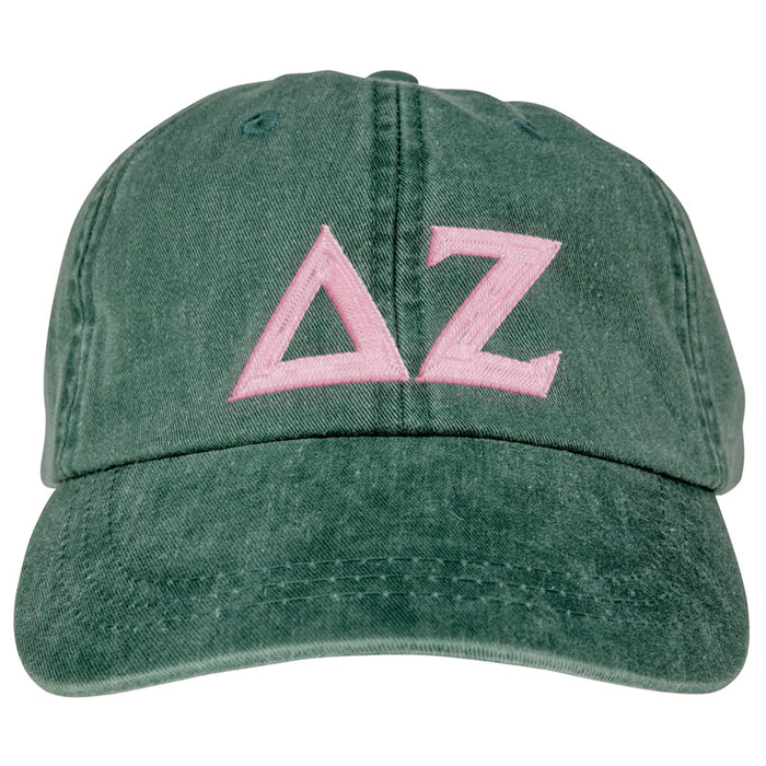 Delta Zeta Greek Letter Embroidered Hat