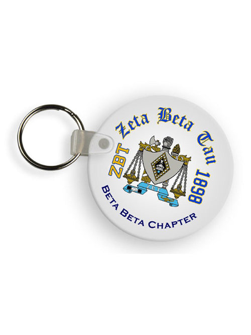 Zeta Beta Tau Color Keychain