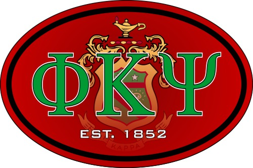 Phi Kappa Psi Color Oval Decal