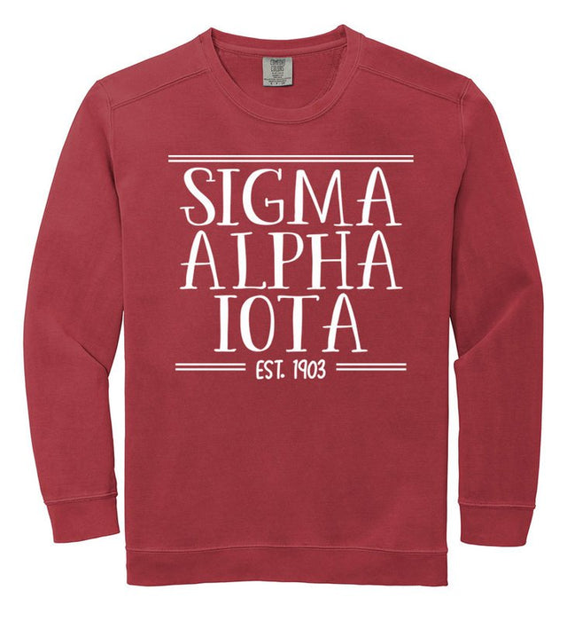 Sigma Alpha Iota Comfort Colors Custom Sorority Sweatshirt