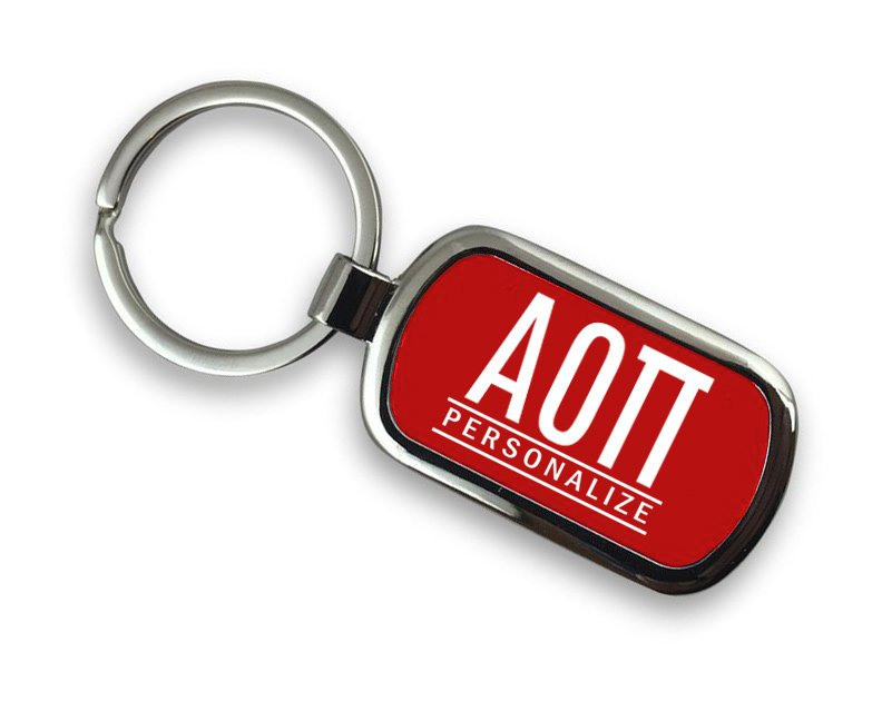 Alpha Omicron Pi Chrome Key Chain