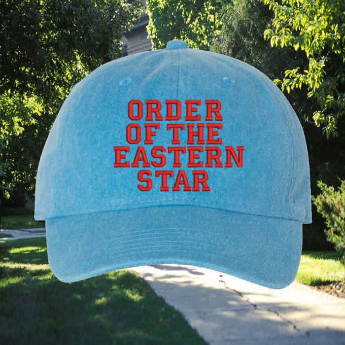 Order Of The Eastern Star Comfort Colors Varsity Hat