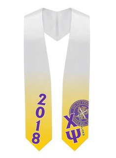 Chi Psi Super Crest Graduation Stole