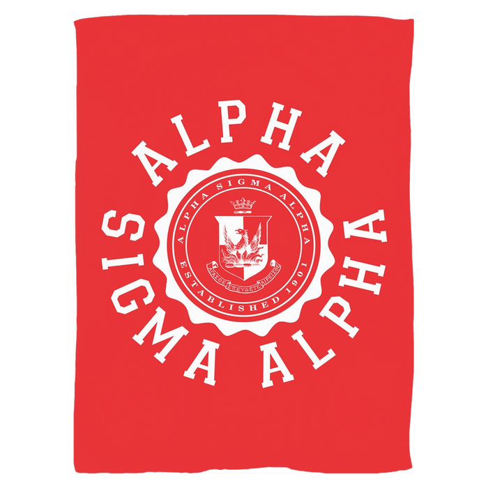 Alpha Sigma Alpha Seal Fleece Blankets Alpha Sigma Alpha Seal Fleece Blankets