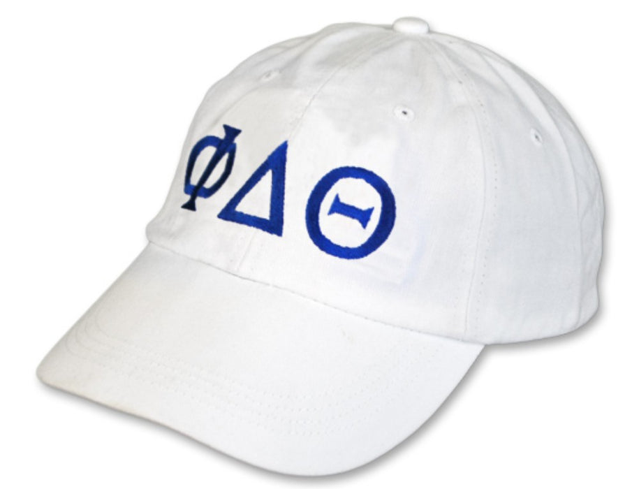 Phi Delta Theta Greek Letter Embroidered Hat