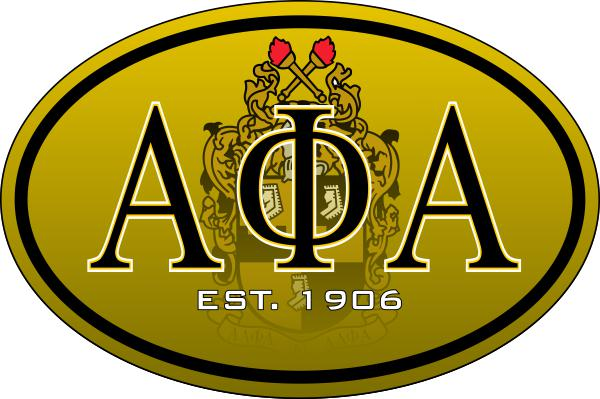 Alpha Phi Alpha Color Oval Decal