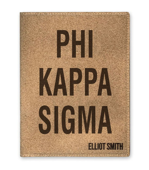 Phi Kappa Sigma Cork Portfolio with Notepad