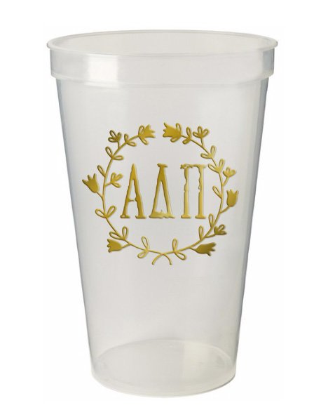 Alpha Delta Pi Wreath Giant Plastic Cup