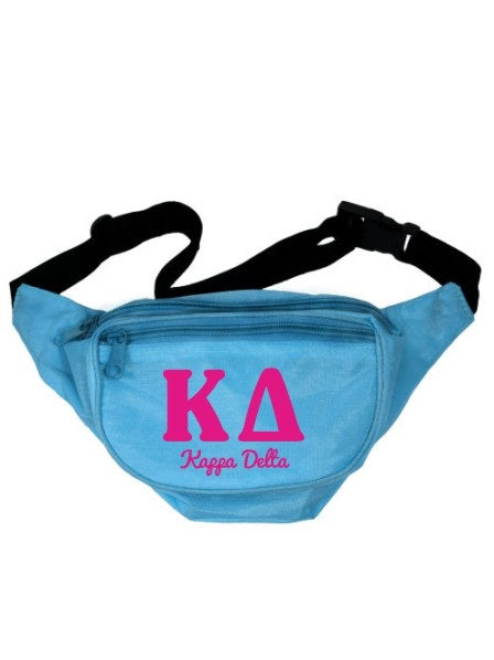 Kappa Delta Letters Layered Fanny Pack