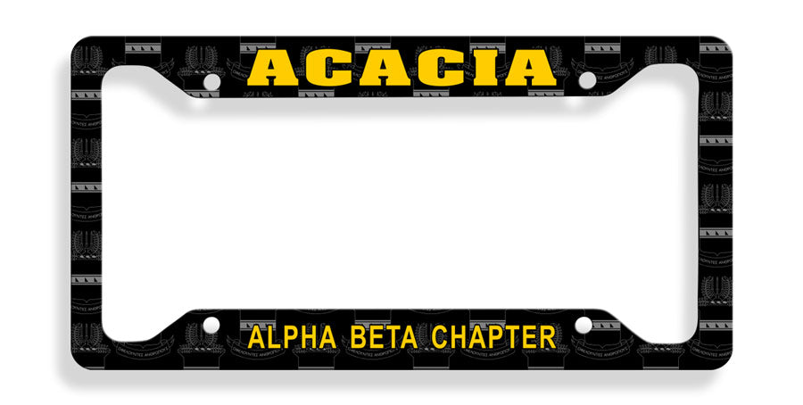 Acacia New License Plate Frame