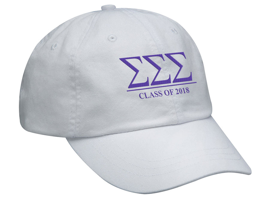 Sigma Sigma Sigma Embroidered Hat with Custom Text