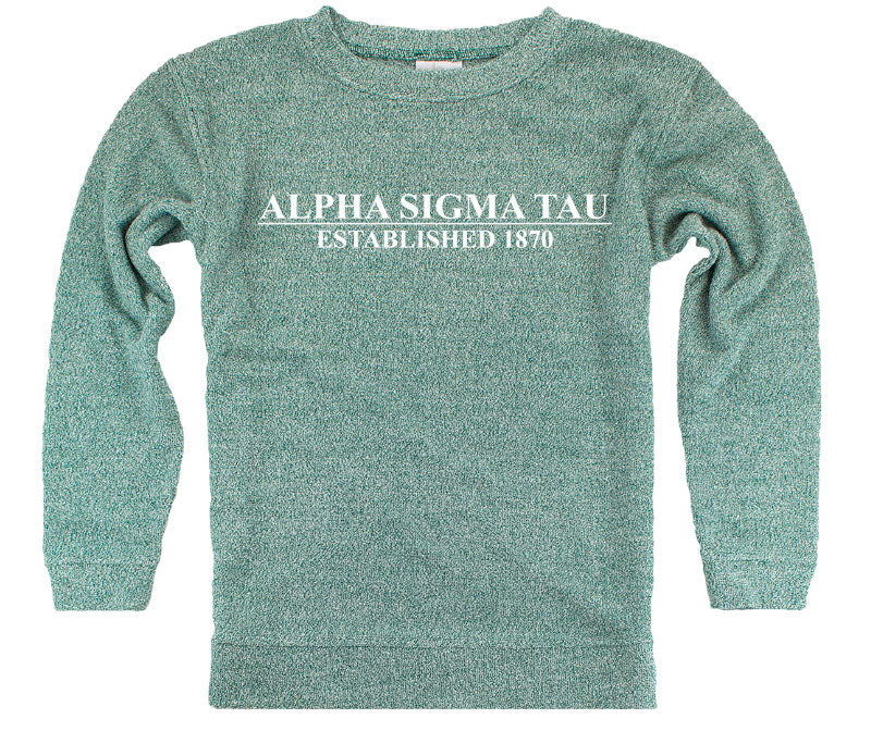 Alpha Sigma Tau Year Established Cozy Sweater