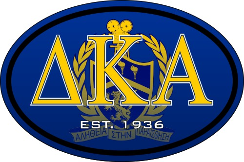 Delta Kappa Alpha Color Oval Decal