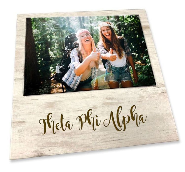 Theta Phi Alpha Script Wood Picture Frame