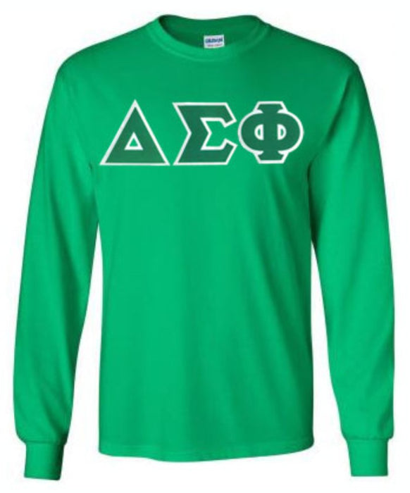Delta Sigma Phi Long Sleeve Greek Lettered Tee