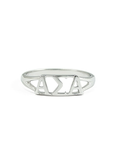 Alpha Sigma Alpha Sterling Silver Ring