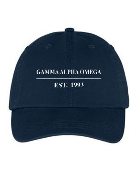 Gamma Alpha Omega Line Year Embroidered Hat